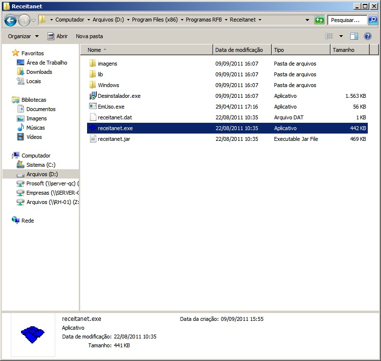 programa receitanet windows 2008