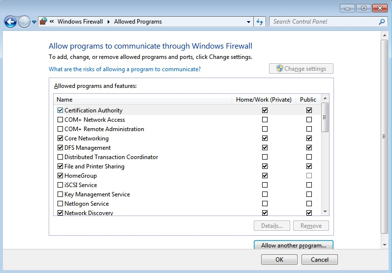 WHS 2011 Firewall blocking FTP connections