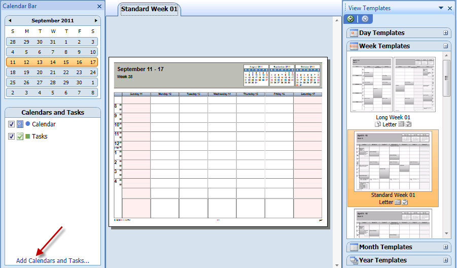 Outlook 2010 weekly agenda printing problems for Outlook calendar printing assistant templates