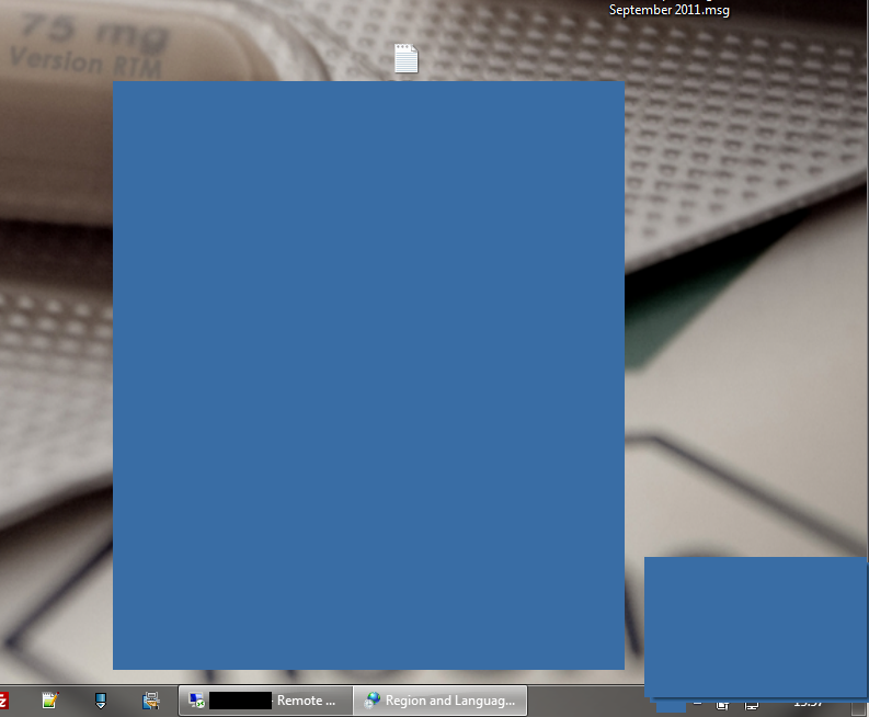 blank blue screen after initial login to a published