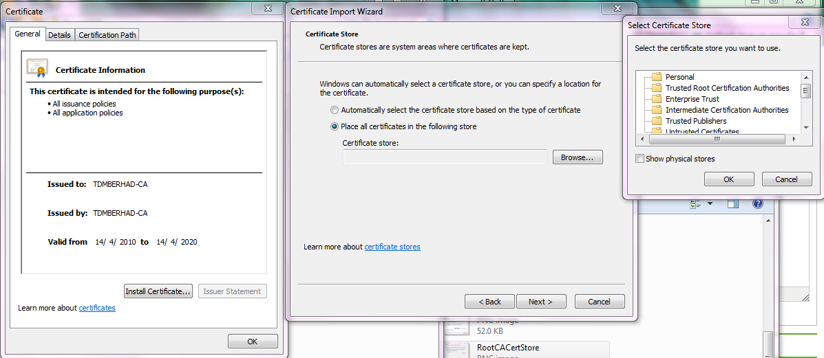 Outlook Gives An Error For Proxy Server Certificate