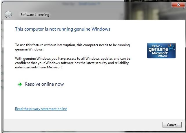 how to solve windows 7 genuine problem build 7601
