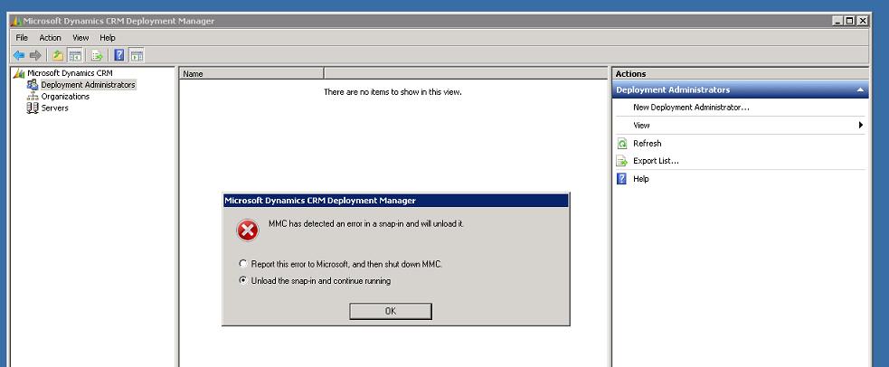 MMC snap-in error 1