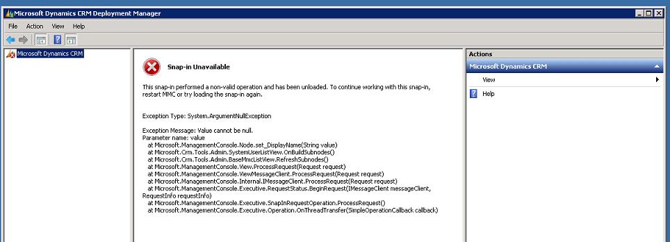MMC snap-in error 2