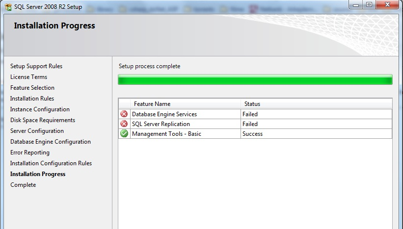 Installing SQL Server Express on Windows 7 Release Candidate