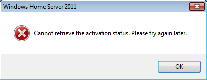 Activation Status Error