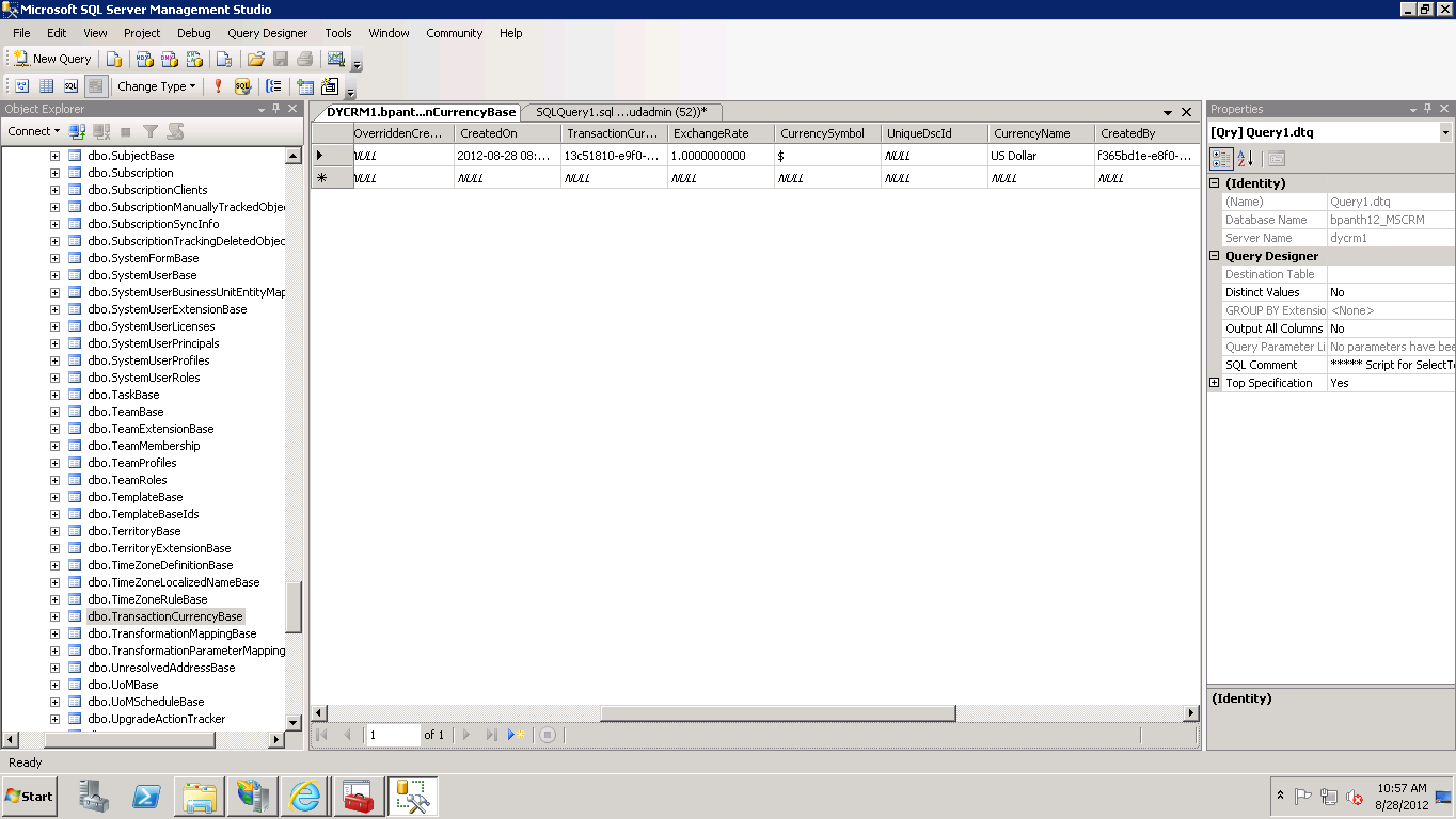 Getting List Of Currencies From Crm 2011 While Creating Organisation