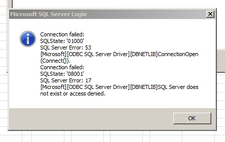how to set up a dumb sql connection