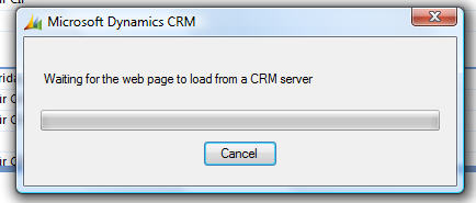 waiting for the web page to load from a CRM Server