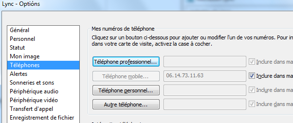 Have A Look On The Lync Client Options Of Users With Duplicates Entries Phone Tab