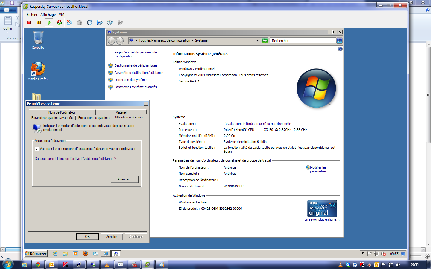 Acces bureau distance vers machine sous windows 7 impossible - Activer le bureau a distance windows 7 ...
