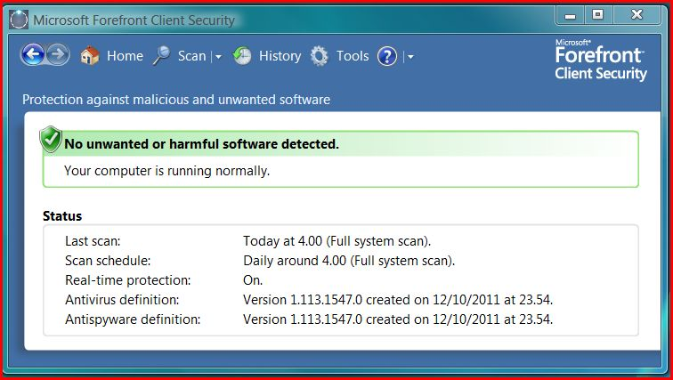 Forefront client security not updating wsus