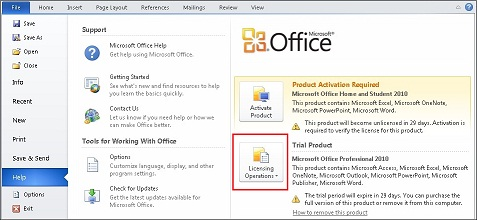 Microsoft Office Trial >> Multiple 2010 Editions Installed