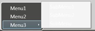 Contextmenu subitem style for Wpf menu style template