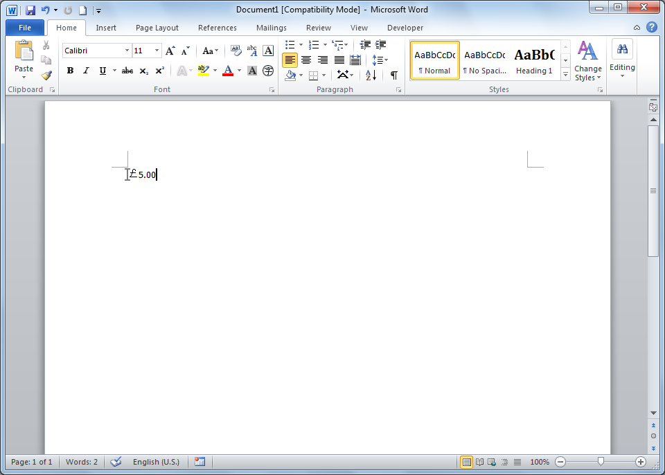 how to add pound sign in microsoft word