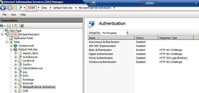 Sbs 2011 certificates for activesync not sure if iis is missing a authentication method yadclub Gallery