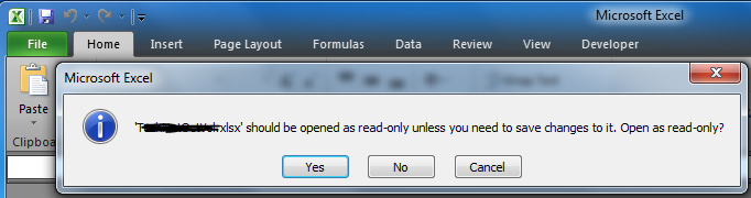 how to unlock excel file from read only
