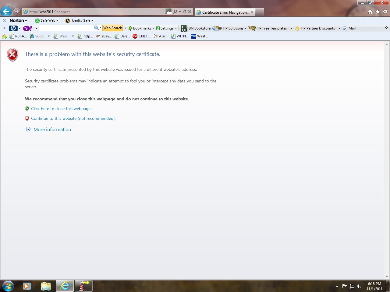 Httpswhs2011connect error in the last couple of days i notice an error displayed if i try to connect to the server with any client 1betcityfo Image collections