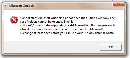 Cannot Open The Outlook Window >> Cannot Start Microsoft Outlook Cannot Open The Outlook Window The