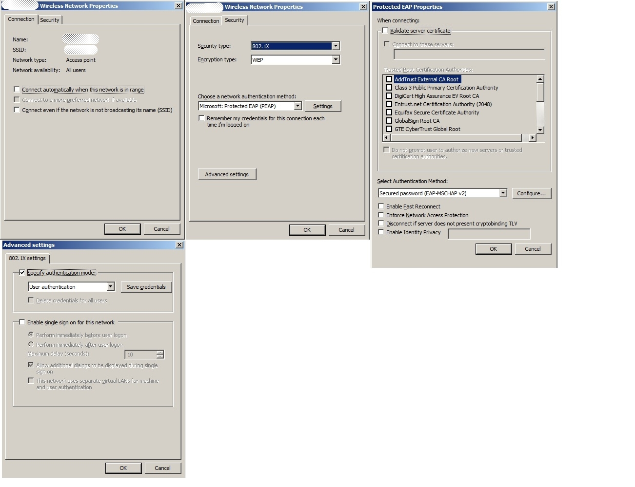 Radius for wireless windows 7 clients nps says yes client says no therere not any errorwarning message in clients event viewer xflitez Image collections