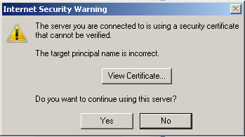 Internet Security Warning when starting Outlook 2016 ...