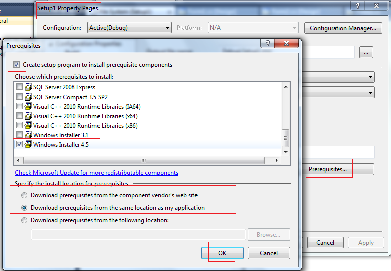 Windows installer 4. 5 for xp sp3 and vista sp1.