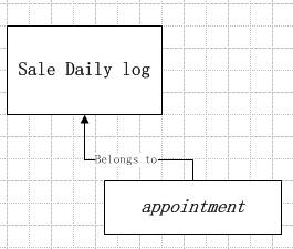 appointment belongs to a self-defing entity:sale daily log