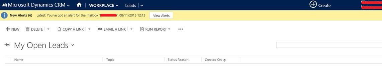 New Alerts / Vew Alerts / Message Bar / Notification Bar