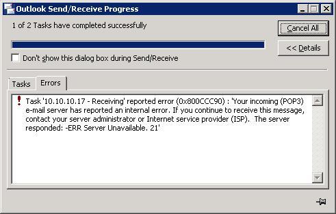 error 0x800ccc90