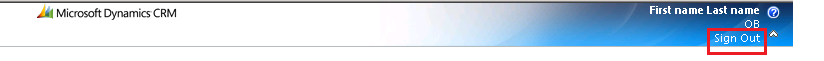 Signout button in CRM 2011