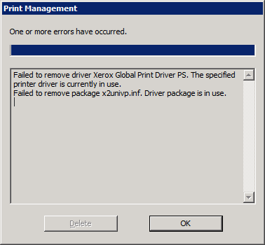 how to delete printer drivers