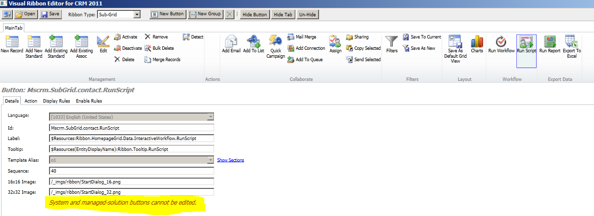 Enabling/Disabling Out-Of-the Box ribbon buttons based on User