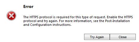 Protocol error