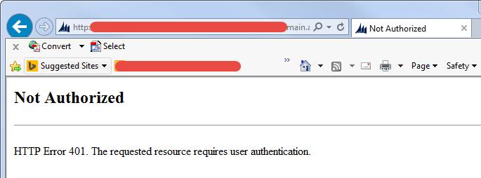 HTTP Error 401