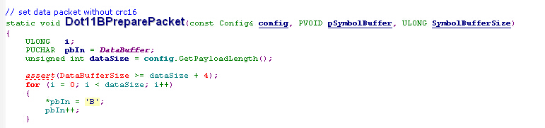 Frame content set in dot11btx.c(umxdot11)