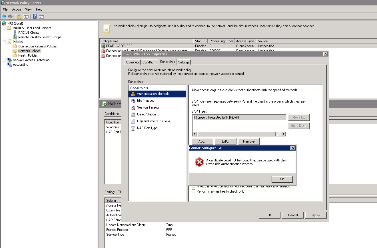 Windows 2008 nps network policy server and stand alone ca can someone help me solving this problem yadclub Images