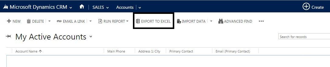 Export to Excel