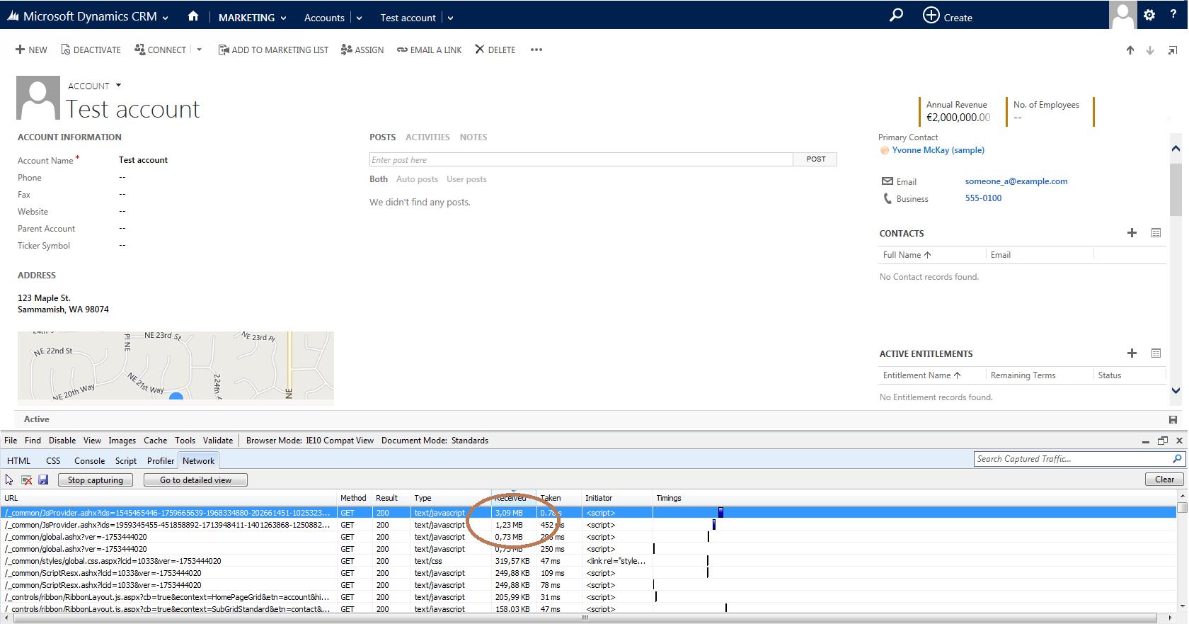 CRM 2013 - dynamic javascript size