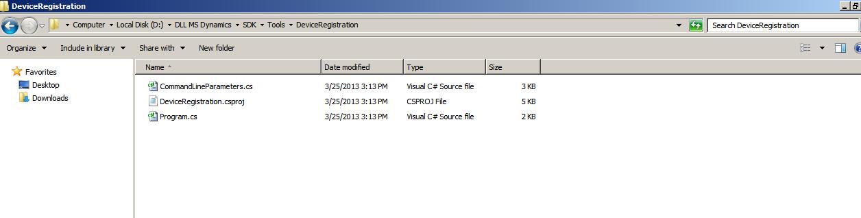 DeviceRegistration folder in SDK missng DeviceRegistration.exe
