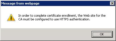 Certificate issuance issue the template is published in ad i can request certificate using web enrollment but when i request a certificate from certificate snap in yadclub Images