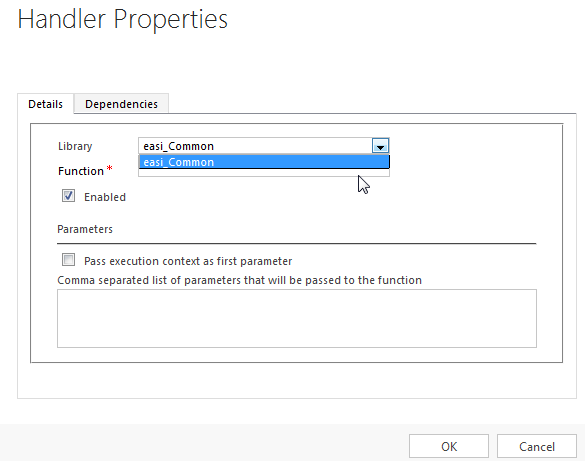 Form Event Handler Dialog with Firefox