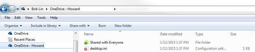 how to change onedrive for business folder name