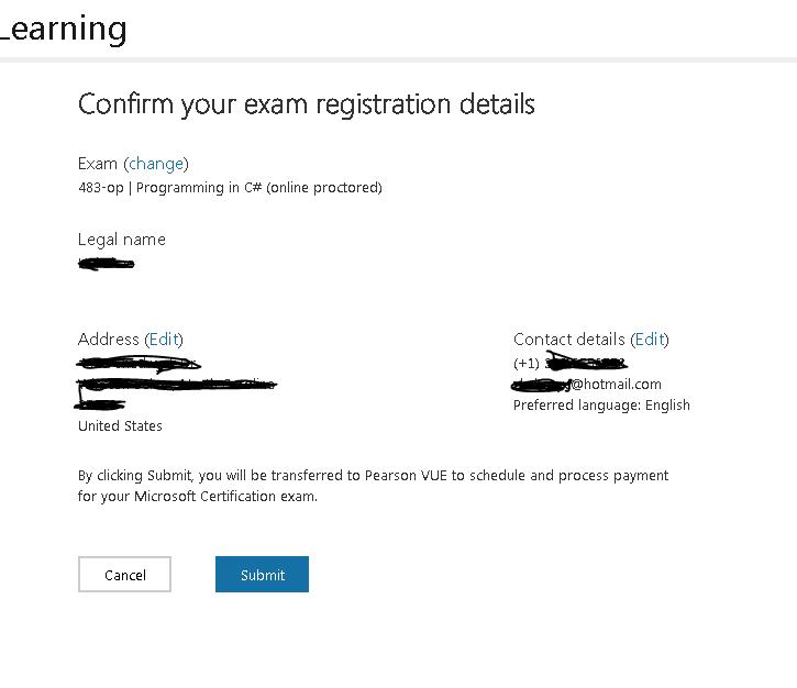 registration details.