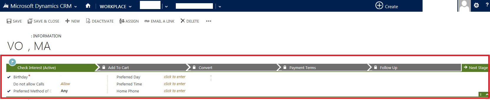 How to Disable the Process Header, collapsible Area, and Process Warning Bar from Contacts Form of CRM 2013