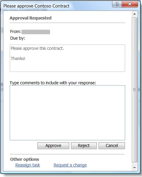 How To Approve Documents Tasks Using Outlook 2007