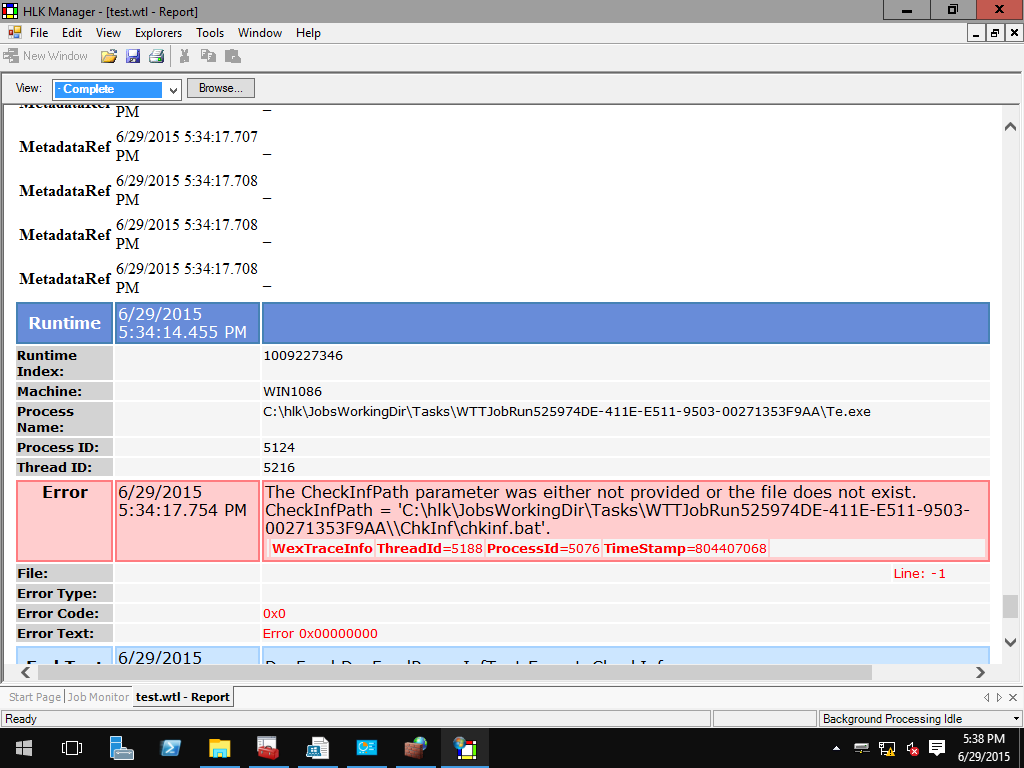 The CheckInfPath parameter was either not provided or the file does not exist.