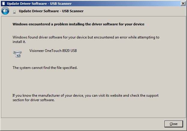 driver visioneer one touch 7100 usb