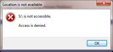 Drive is not accessible. Access is denied