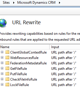 CRM 2016 Rewrite Rules