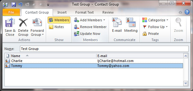 how to create a distribution list in yahoo mail